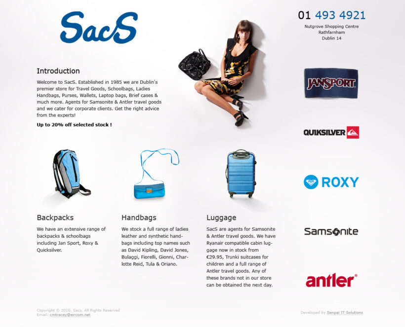 Web Design and its HTML Coding for Nutgrove Shopping Centre SacS