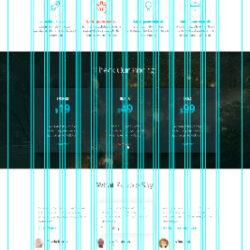 Landing Page Ramitra PSD Template Grid