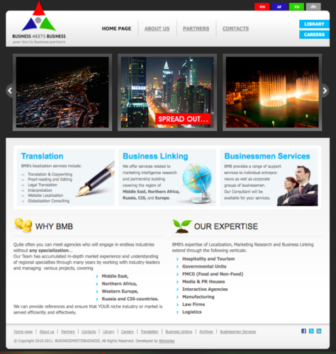Ready Multilingual Business Company Website on Joomla