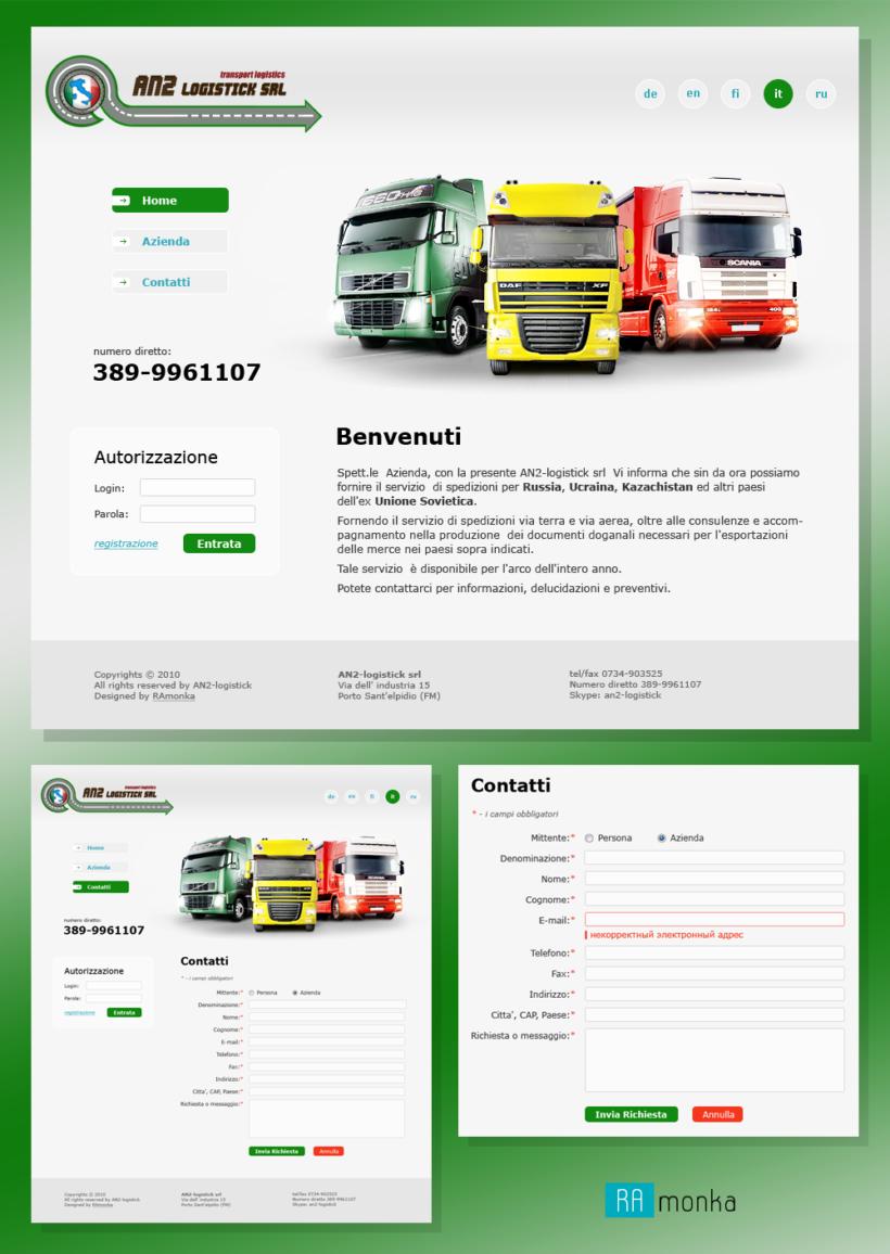 Web Design for Transport Logistics Company AN2-Logistick S.R.L.