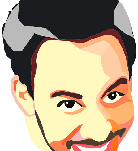 Vector Illustration of the singer Mike Shinoda