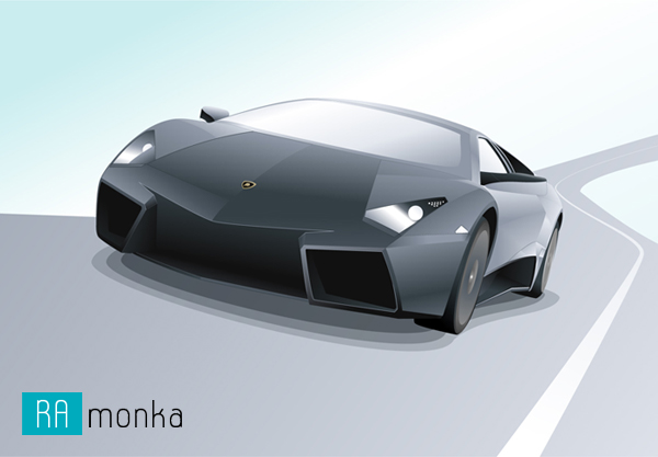 Vector Illustration of Lamborghini Reventon