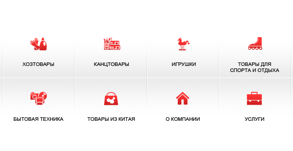 Menu Icons for Russian Chinese Business Company Group SCS