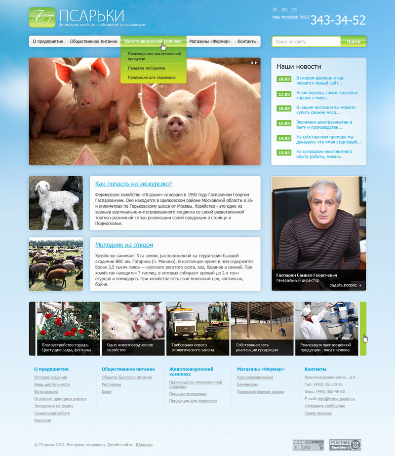 Web Design and its HTML Coding for Farm Psarki