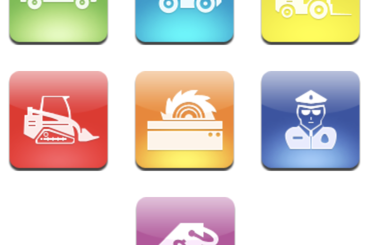 Icons developing for the website of the company BDK-LEASING